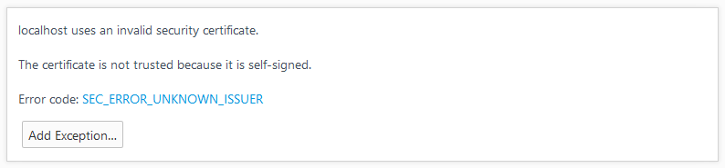 https self signed certificate advanced
