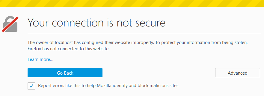 https self signed certificate firefox